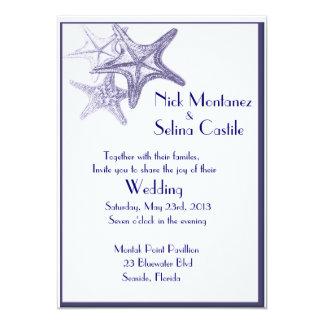 inbjudan för bröllop för marinhavsstjärna