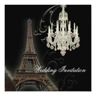 Inbjudan för bröllop för Paris ljuskronaEffiel