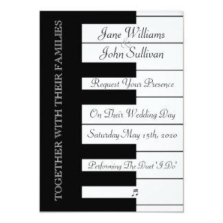 Inbjudan för bröllop för pianotangentbordmusik