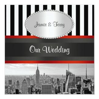 Inbjudan för bröllop för rand P för vit för