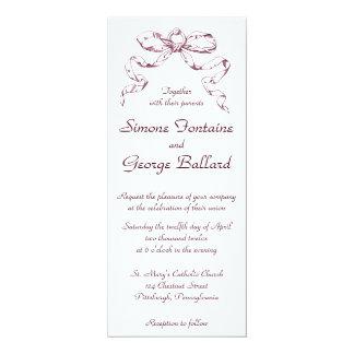 Inbjudan för bröllop för rosapilbågebylte