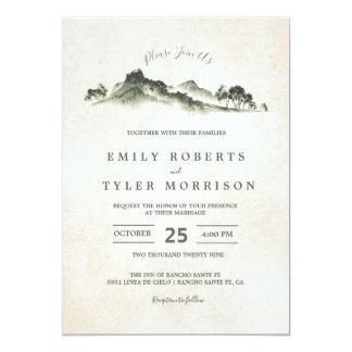 Inbjudan för bröllop för skog för