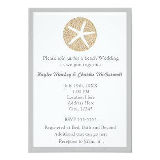 Inbjudan för bröllop för strand för