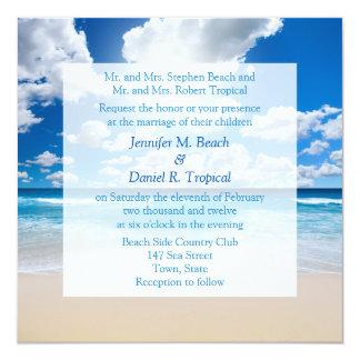Inbjudan för bröllop för strandbröllopinbjudan