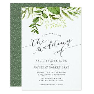 Inbjudan för bröllop för vildäng botanisk 12,7 x 17,8 cm inbjudningskort