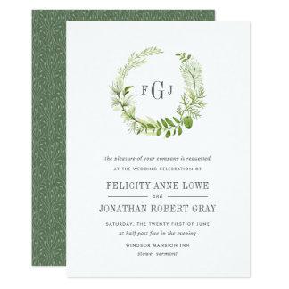 Inbjudan för bröllop för vildängMonogram 12,7 X 17,8 Cm Inbjudningskort