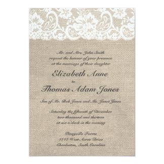 Inbjudan för bröllop för vintagesnöreLook &