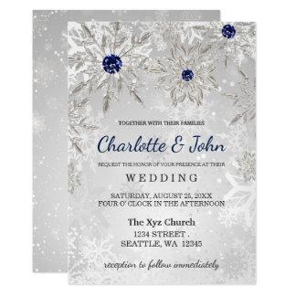 inbjudan för bröllop för vinter för 12,7 x 17,8 cm inbjudningskort