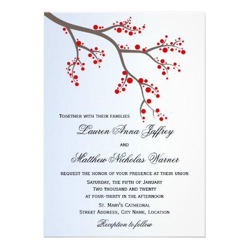 Inbjudan för bröllop för vinterbärgren