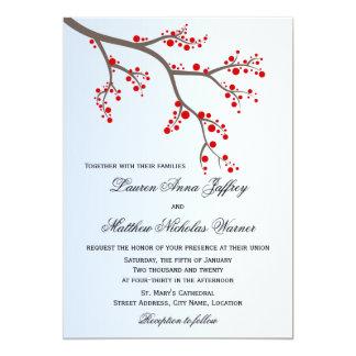 Inbjudan för bröllop för vinterbärgren 12,7 x 17,8 cm inbjudningskort