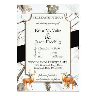 Inbjudan för bröllop för vinterhjortkamouflage
