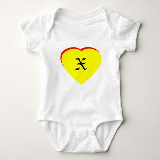 """Inbjudan för bröllop """"för x-"""" hjärta gul röd t shirt"""