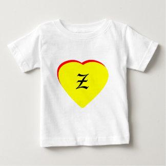 """Inbjudan för bröllop """"för z-"""" hjärta gul röd tröjor"""