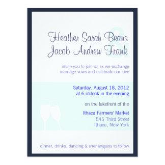 Inbjudan för bröllopchampagnerostat bröd