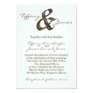 Inbjudan för Camo et-teckenbröllop