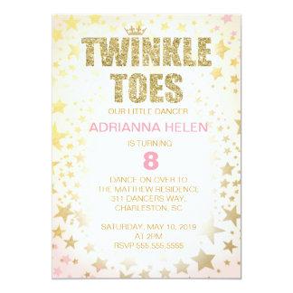 Inbjudan för dansare för 311 glitterglimtToes