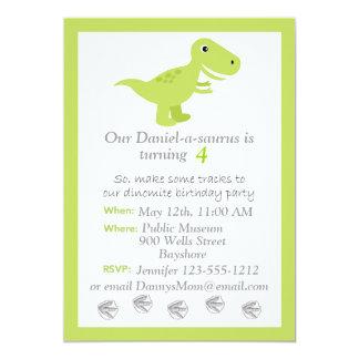 Inbjudan för den DinosaurT-rex barns födelsedag