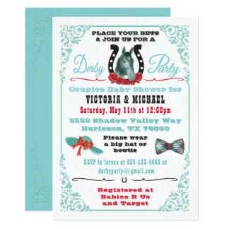 Inbjudan för Derby hästkapplöpningbaby shower