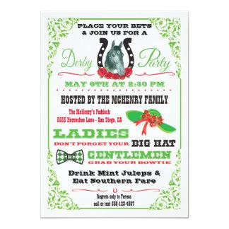 Inbjudan för Derby hästkapplöpningparty