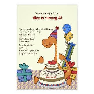 Inbjudan för Dinosaurpartyfödelsedag