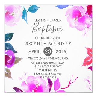 Inbjudan för dop för flicka för gullig lilaro