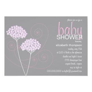 Inbjudan för dusch för lilaviskningflicka