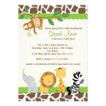 Inbjudan för dusch för Safaridjungelpojke
