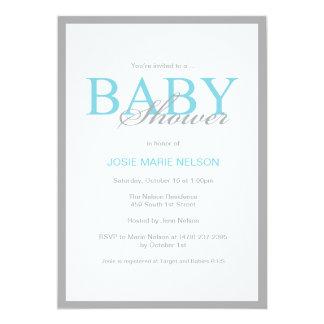 """Inbjudan """"för elegant baby shower"""""""