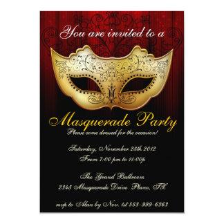 Inbjudan för finare för maskeradpartyfirande