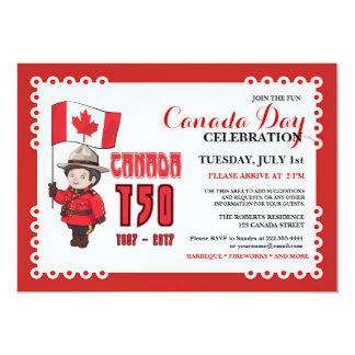 Inbjudan för firande för BBQ för Kanada dag 150
