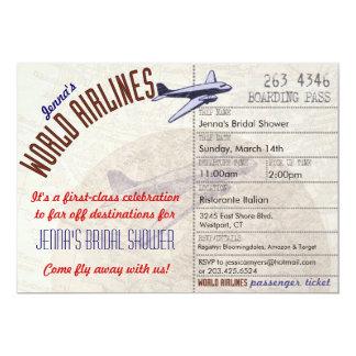 Inbjudan för flygbolagbiljettDestinationBridal