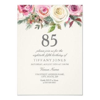 Inbjudan för födelsedag för elegant vit