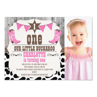 Inbjudan för födelsedag för flickashock rosavilda