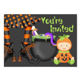 Inbjudan för födelsedag för gullig Halloween