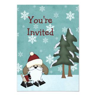 Inbjudan för födelsedag för helgdag för Santa
