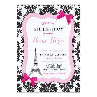 Inbjudan för födelsedag för Paris Eiffel