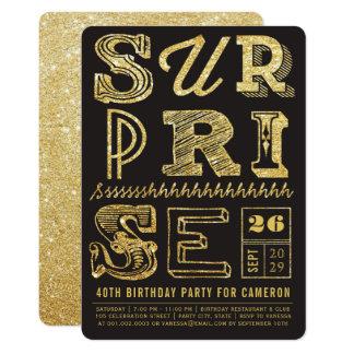 Inbjudan för födelsedag för party för glitterart 12,7 x 17,8 cm inbjudningskort