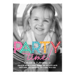 Inbjudan för födelsedag för partyTime foto
