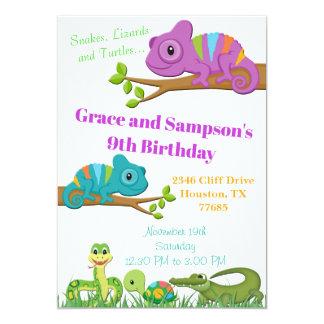Inbjudan för födelsedag för sköldpadda för