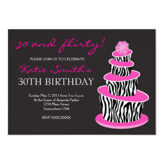 Inbjudan för födelsedag för Topsy Turvy sebratårta