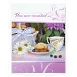 Inbjudan för födelsedagfrukostfrunch
