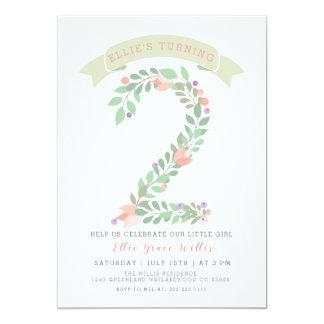 Inbjudan för födelsedagsfest för blommigtträdgård