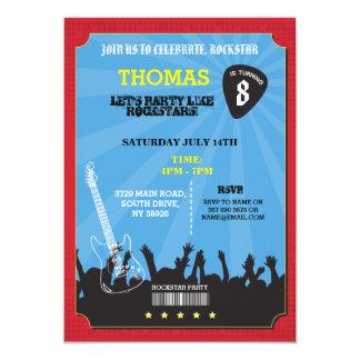 Inbjudan för födelsedagsfest för Rockstar rock