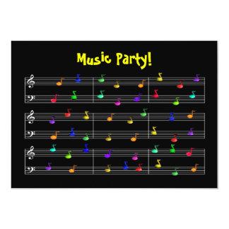 Inbjudan för födelsedagsfestmusikanpassade