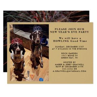 Inbjudan för för nyårsaftonpartyhundar och