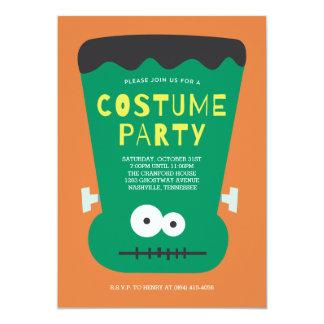 Inbjudan för Frankenstein Halloween dräktparty
