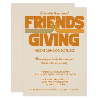 Inbjudan för Friendsgiving thanksgivingparty