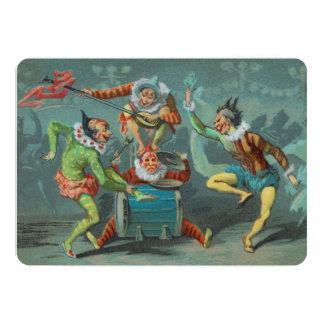 Inbjudan för fyra fransk clowner