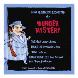 Inbjudan för gåta för mord för mobsterchefsvart