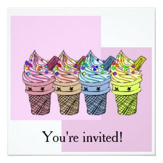 Inbjudan för glass fyra